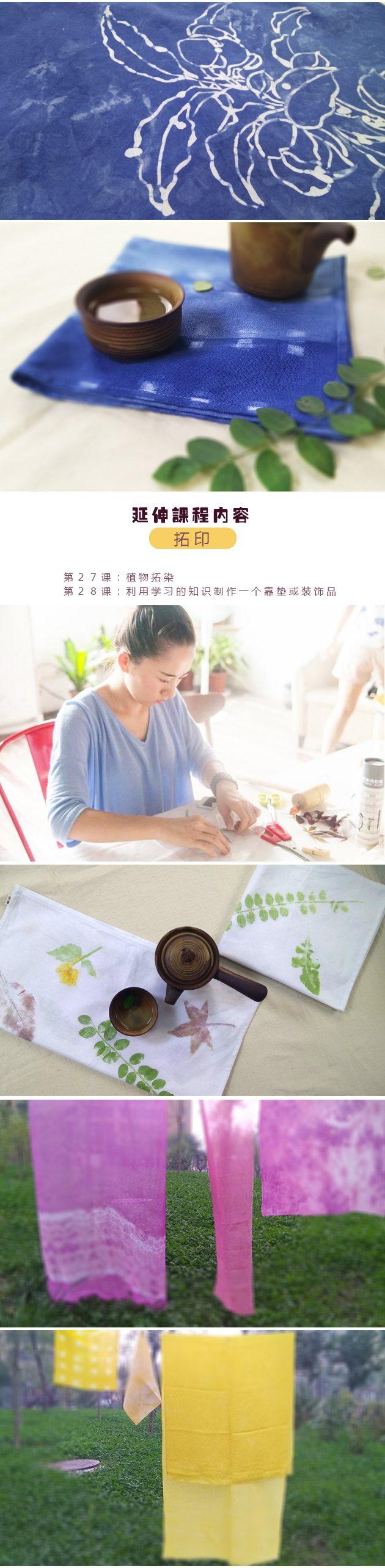 天然植物染布精品课