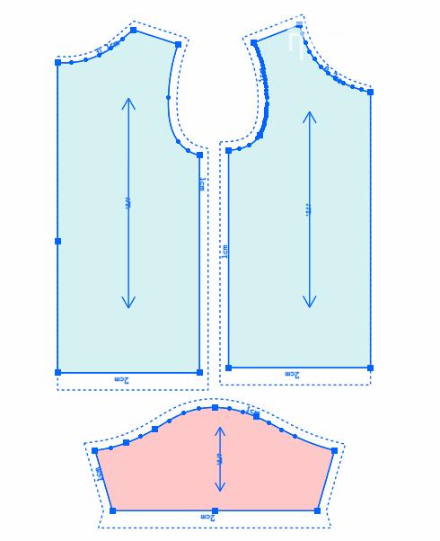 第53节:儿童半袖T恤制图2