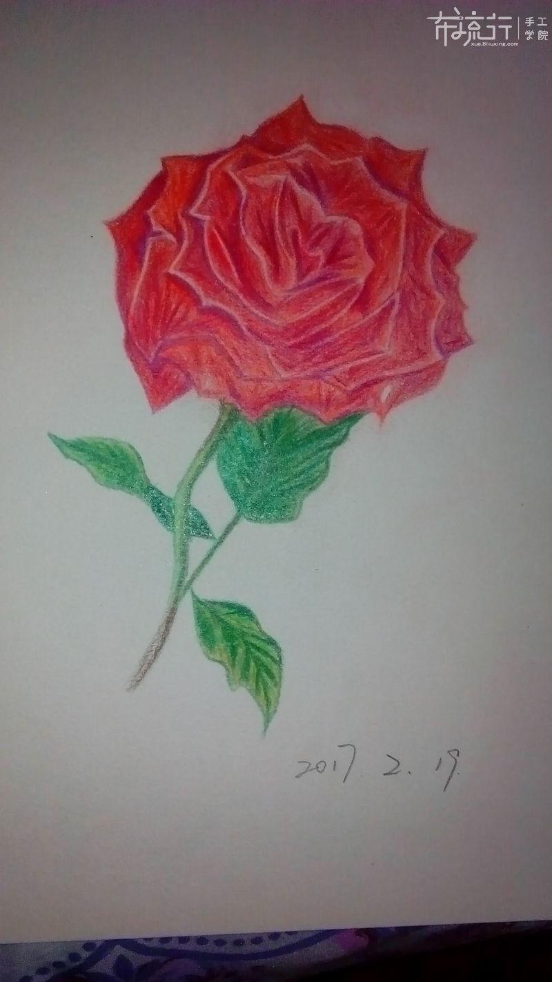 玫瑰花-5.树枝的深入刻画