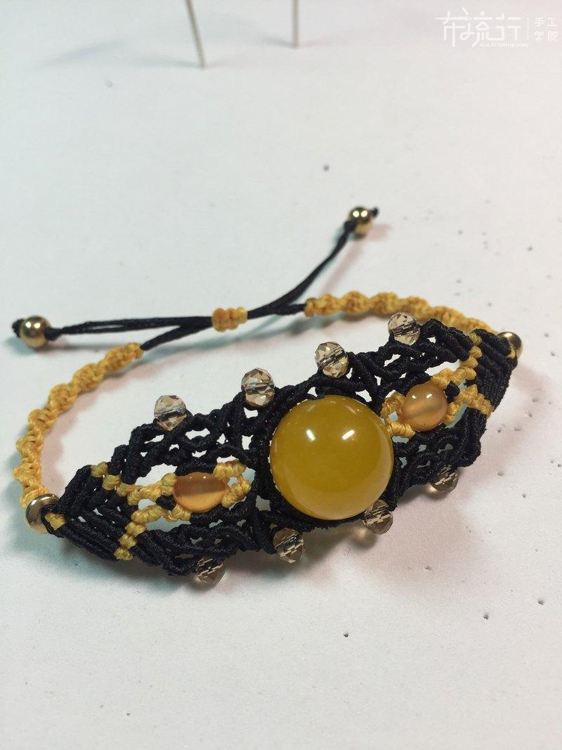 16.复杂单珠手链编织