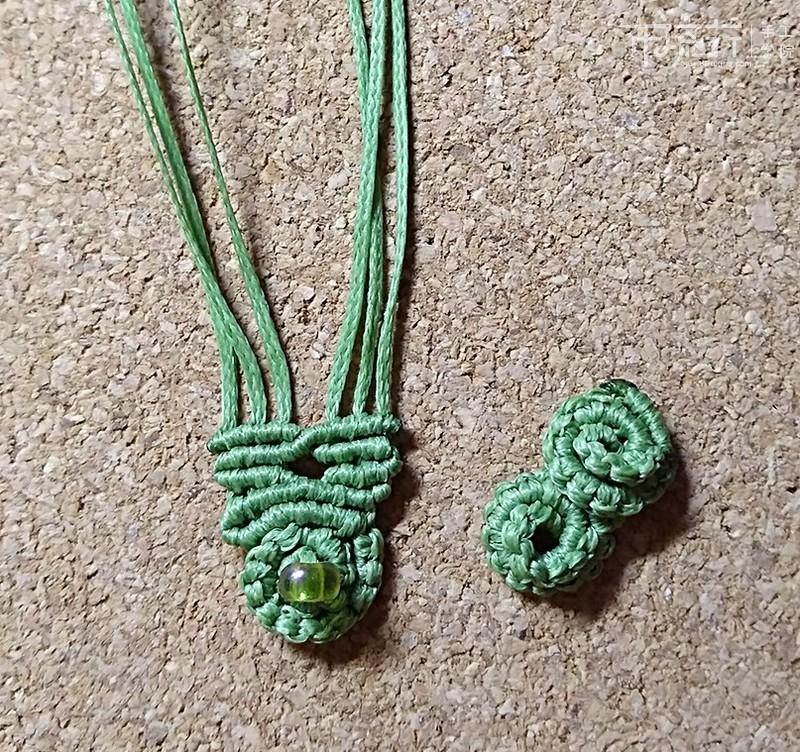 14.螺旋图案手链编织