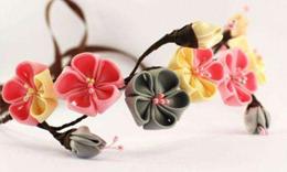 手作细工花の簪制作技法