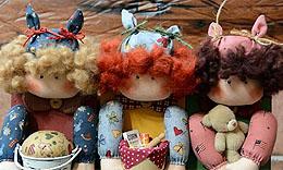手作乡村娃娃的甜美生活